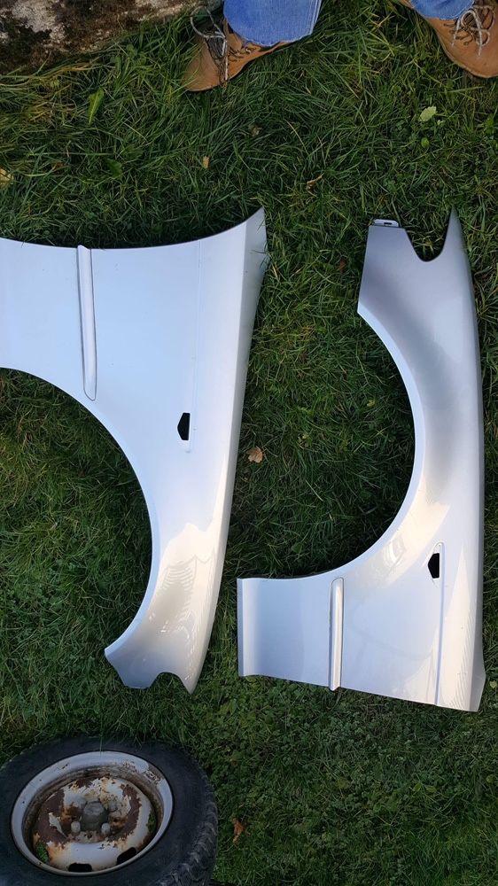 Bmw e46 coupe blotniki prawy lewy srebrny