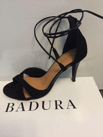 Sandały BADURA rozmiar 38 czarny welur