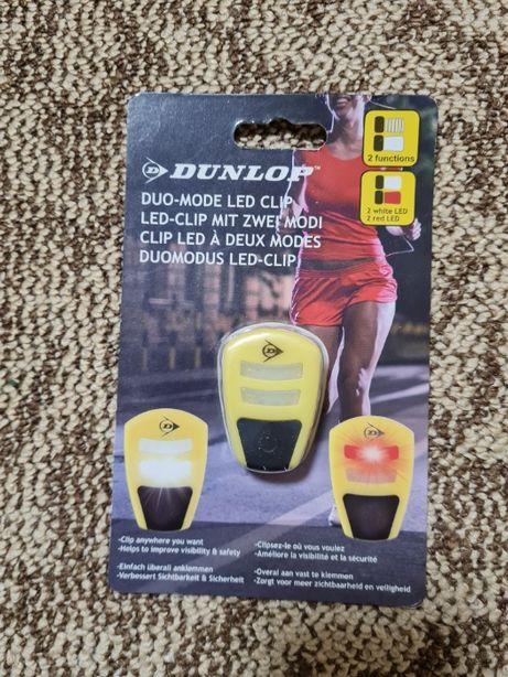Зажим отражатель для пробежки фонарь DUNLOP LED CLIP