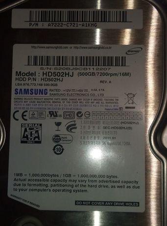 Жесткий диск HDD Samsung HD502HJ 500Gb 7200 16Mb Sata.