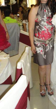 Vestido de cetim CAMAÏEU