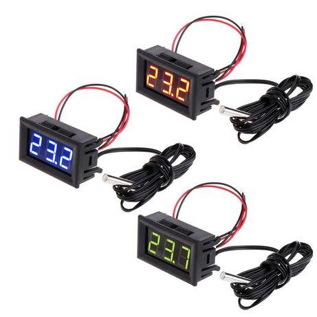Термометр цифровой автомобильный с выносным датчиком