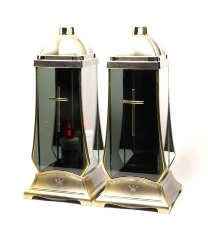 Znicz art black mirror golden cross new