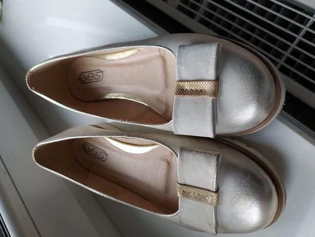 Buty płaskie czułenka koloru złotego roz 37