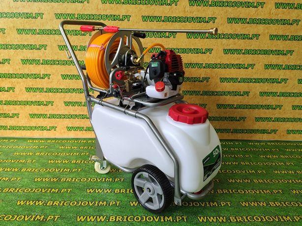 Pulverizador Carrinho 50 Lt -Motor Gasolina 31cc-30mt mangueira -NOVOS