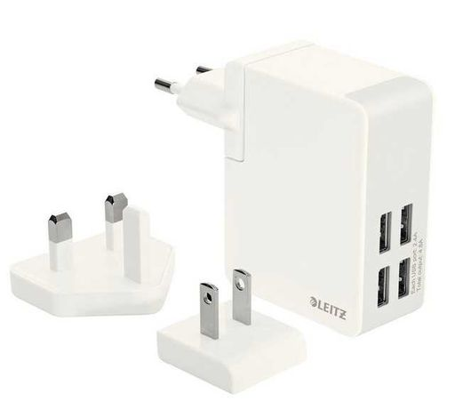 Ładowarka sieciowa LEITZ COMPLETE Z 4 portami USB