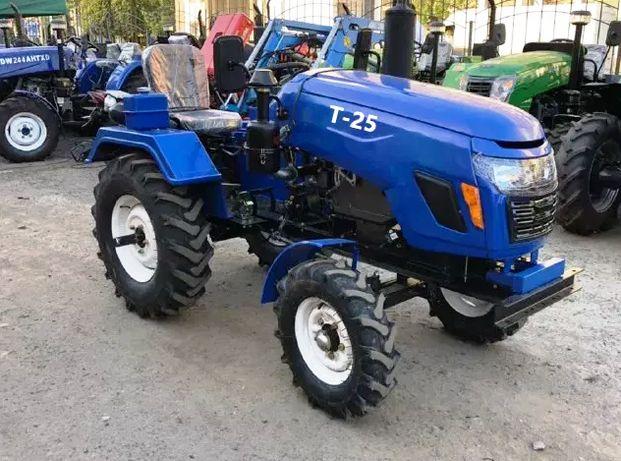 Новий мототрактор Булат Т25 +фреза+плуг та доставка, трактор Т25