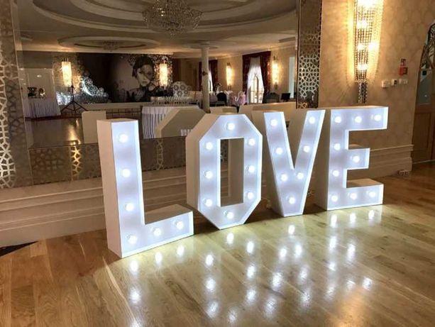 Wynajem Napis LOVE na WESELE / EVENT / IMPREZE - tanio