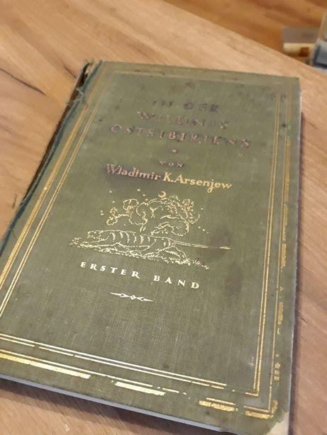 1924r! In der ostsibiriens - Arsenjew stara książka i mapa