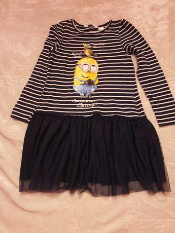 Vestido tam. 4-6 anos azul marinho da H&M