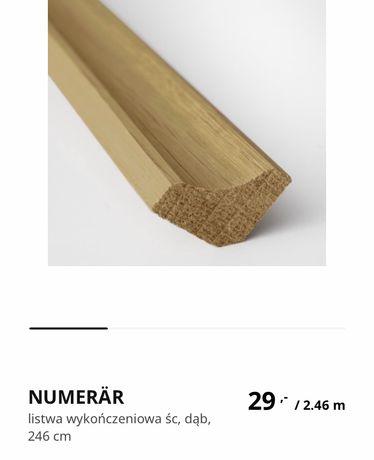Ikea listwa Numerar do blatu dąb drewno