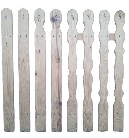 Sztachety sosnowe heblowane suche PRODUCENT deski łaty ogrodzenie płot