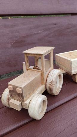 Трактор із натурального дерева еко іграшки, іграшки із дерева.