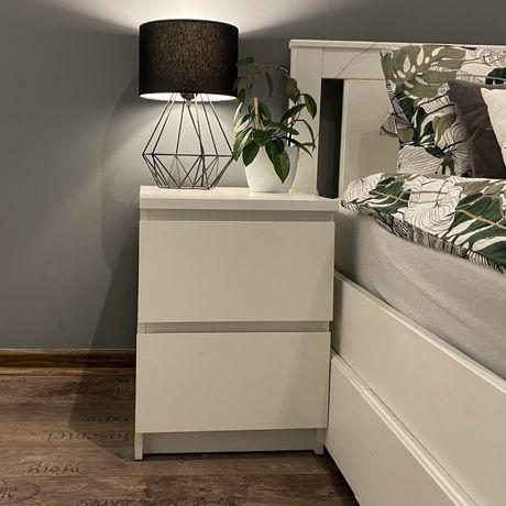 Szafka nocna / Komoda 2 szuflady biała IKEA MALM