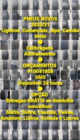 PNEUS NOVOS 2020/21 (Ligeiros, Comerçiais, Jipe, Camião e Moto)