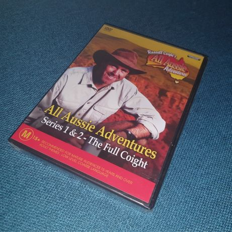 serial DVD All Aussie Adventures Sezon 1 + 2 folia Russell Coight's