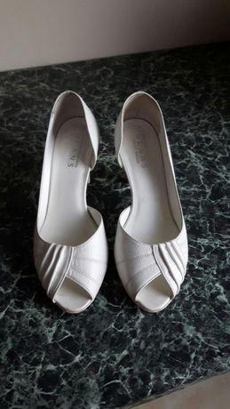 Buty ślubne 36 skóra naturalna Glans