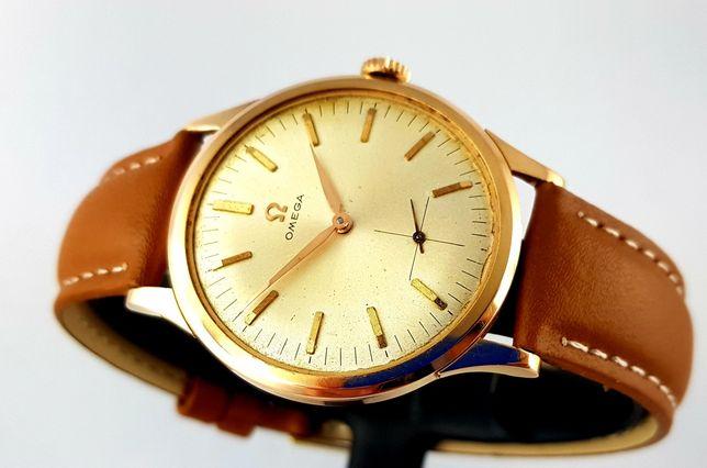 Zegarek męski Omega złoto 18k Vintage Lata 60te Unikat XL cal.268