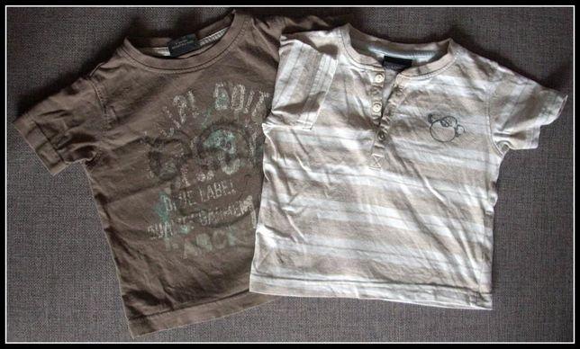NEXT dwie super koszulki z kr. Rękawem 3-6 miesiecy