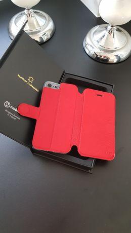 Etui ze skóry naturalnej do Apple IPhone 8 - wzór Red Leather