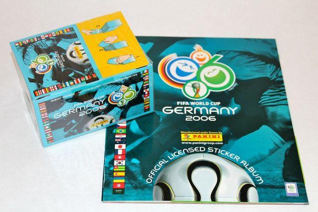 Mundial 2006 da Panini – Caixa selada com 100 saquetas + Caderneta