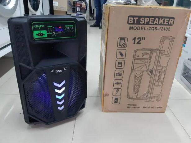 Колонка активная Bluetooth акустическая бумбокс с микрофоном
