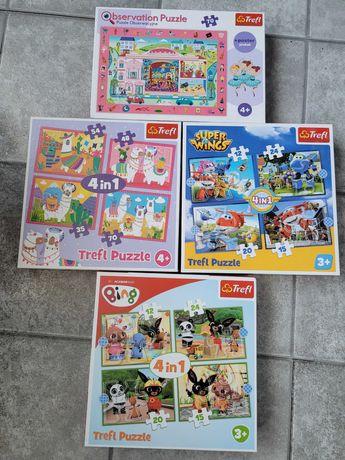 4szt Puzzle 4w1 jedne z plakatem obserwacyjne zamienię na inne zabawki