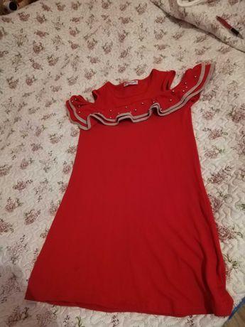 Sukienka hiszpanka 152 z perełkami