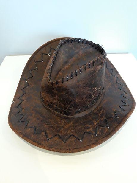 Kapelusz skórzany western kowbojski. OKAZJA!!!