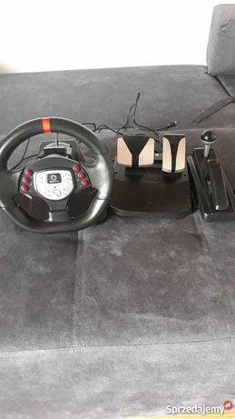 Kierownica do gier + reczny +pedaly gazu hamulca