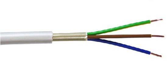 Монтажный электрический кабель 3 жилы 2,5 мм. 50 метров. Из Германий