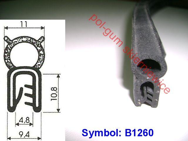 Uszczelka gumowa klapy zasobnika , KOSZ PODAJNIKA-B1260 Skierniewice - image 1