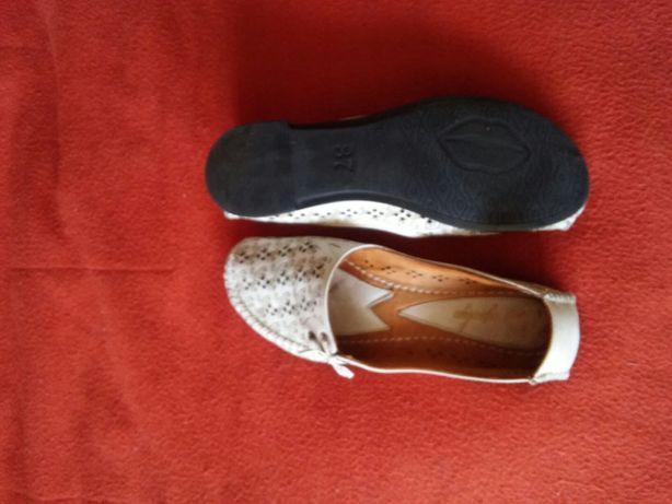 Кожанные весенне-летние туфли 36 р.