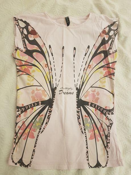 Koszulka z motylem rozmiar S