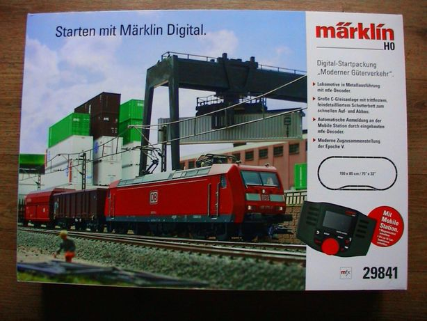 """Marklin 29841 zestaw """"Modern Freight Service"""" ze stacją mobilną"""