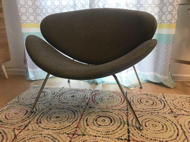 Fotel Signal Major designerski uszak nowoczesny szary BRW