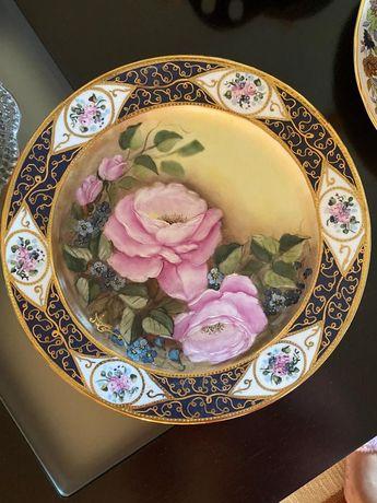 Prato porcelana pintado a mao