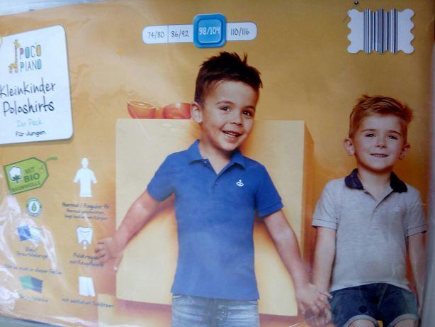 Набор из 2-х футболок-поло на мальчика рост 98/104 на 3-4года Германия