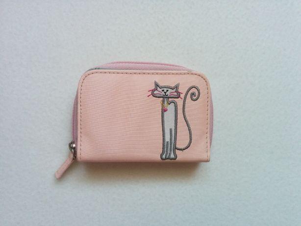 Różowy portfel z kotkiem KOT