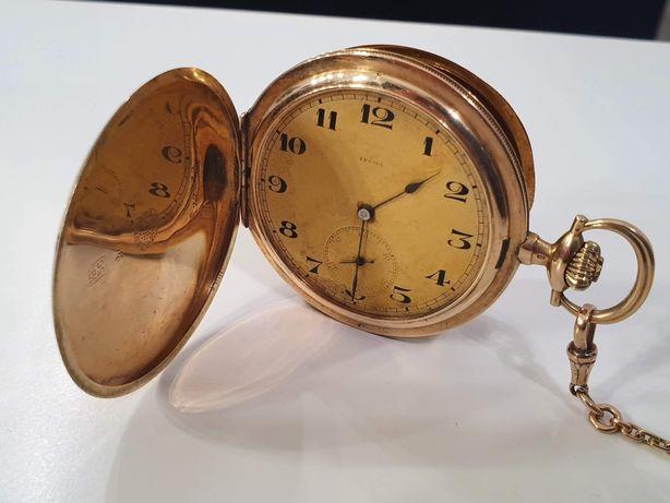 Złoty zegarek kieszonkowy złoto 14k Zenith 1900 rok