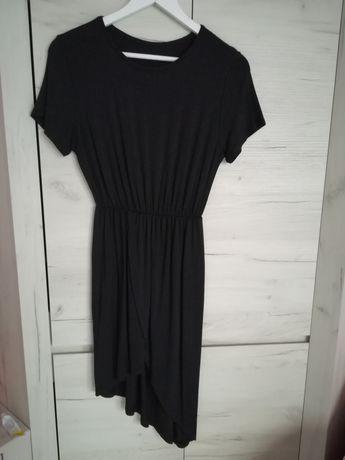 Asymetryczna czarna sukienka uni