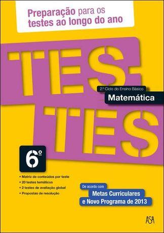 Testes de Matemáticca - 6º Ano-Novo