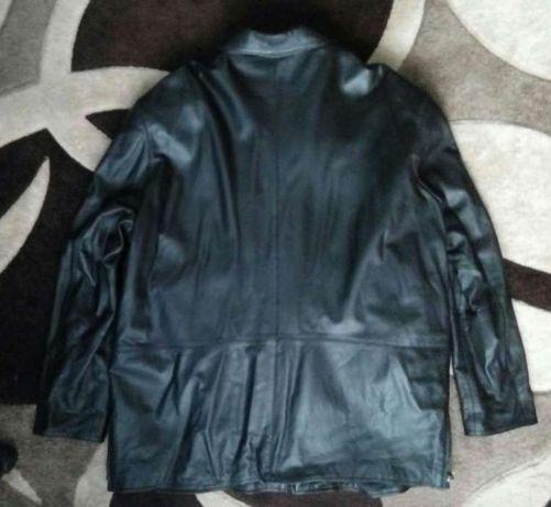 Мужская кожаная куртка (батал)