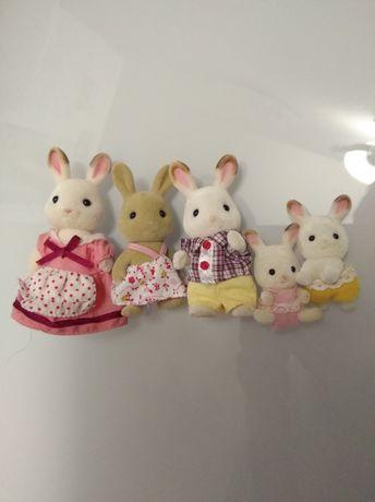 Семья Шоколадных Кроликов, Sylvanian Families, оригинал Epoch.