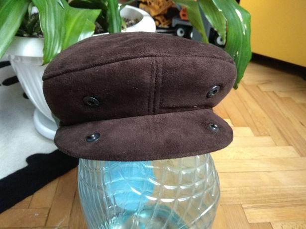 Утепленная кепка винтаж кепи фуражка зимняя разм 56 - 57