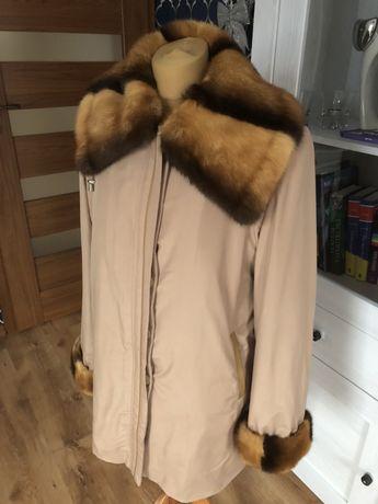 Płaszcz kurtka zimowo- wiosenna norki L beżowy