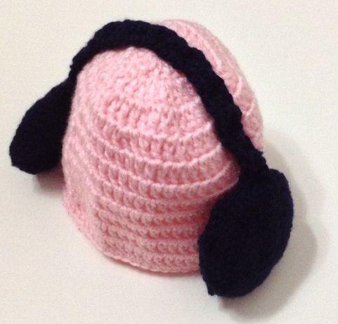 Gorro artesanal para bebé em lã anti-alérgica. Artigos novos