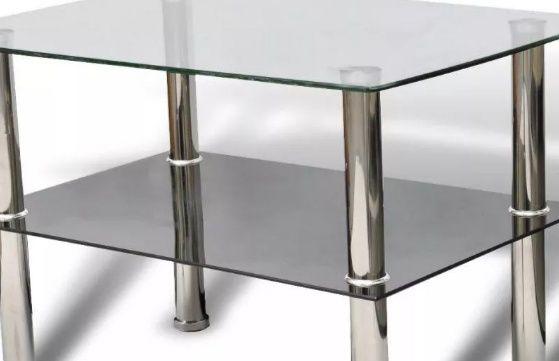 Stolik szklany 3-szybowy,wysoki kuchnia, salon