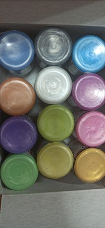 Набор акриловых красок с перламутром. 12 цветов.