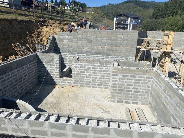 Фундамент, заливка фундаменту, бетон, Бетонні роботи.